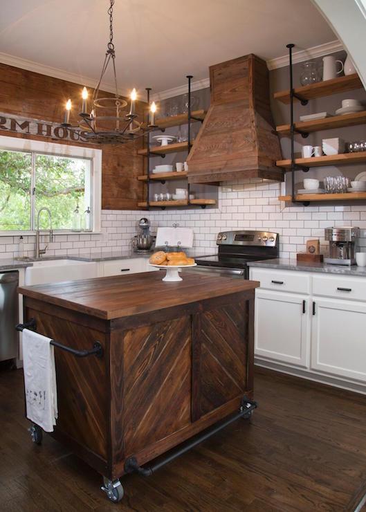 Barn Board Kitchen Hood - Country - Kitchen - HGTV