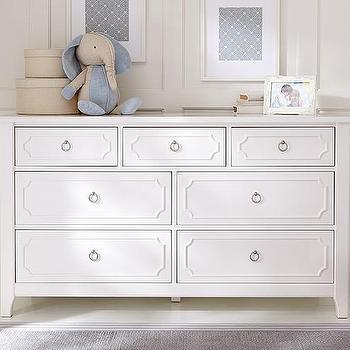 Ava Regency Dresser, Extra Wide White Dresser