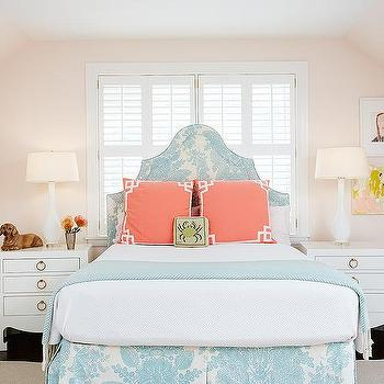 Pink and Blue Girls Bedroom, Transitional, Girl's Room, Amie Corley Interiors