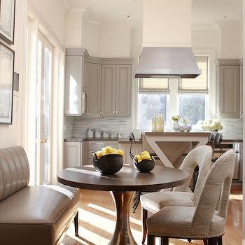 Eat in Kitchen Design, Transitional, Dining Room, Benjamin Moore Briarwood, Massucco Warner Miller