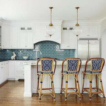 Kitchen with Blue Subway Tiles, Transitional, Kitchen, Amie Corley Interiors
