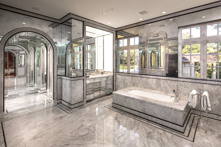 Master bathroom vanities - Mirrored Bathrooms Contemporary Bathroom Thompson Custom Homes