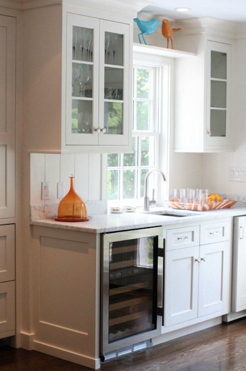 Under the counter wine cooler transitional kitchen - Kitchens with wine coolers ...