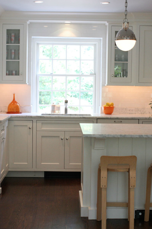 Kitchen with orange accents transitional kitchen - Kitchen with orange accents ...
