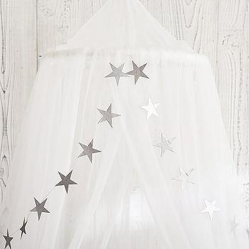 Silver Star Paper Magic Garland