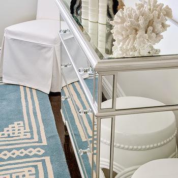 3 Drawer Mirrored Dresser, Transitional, Bedroom, Lauren Christine Henno