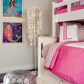 Capiz Floor Lamp, Contemporary, Girl's Room, Lauren Christine Henno