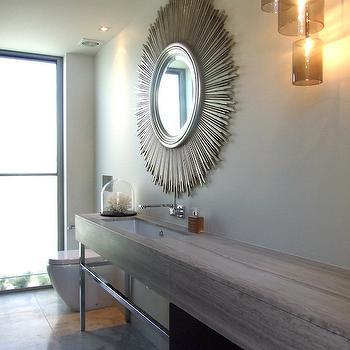 Sunburst Vanity Mirror, Contemporary, Bathroom, McIntosh Moorman Interior Design