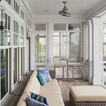 Covered Deck with Beadboard Ceiling, Cottage, Deck/patio, Dearborn Builders