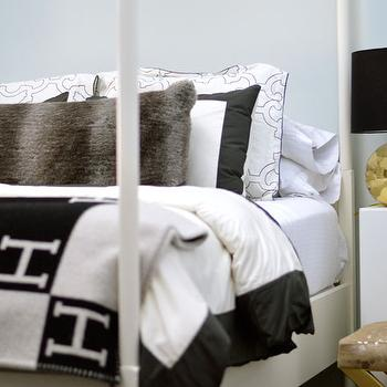 Dwell Studio Border Ink Duvet and Shams, Contemporary, Boy's Room, Confetti and Stripes