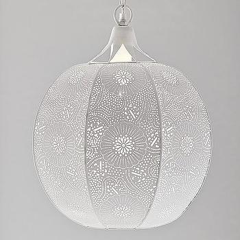 Perforated Metal Globe Pendant