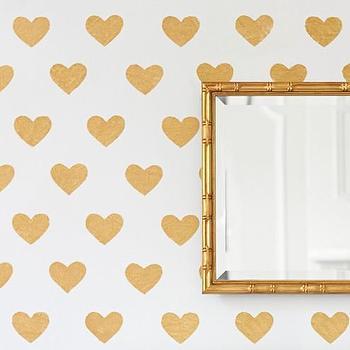 Gold Heart Decals
