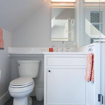 Gray and Orange Bathrooms, Contemporary, Bathroom, Cynthia Brooks Design