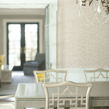 Gray Dining Table and Chairs, Transitional, Dining Room, Cynthia Brooks Design