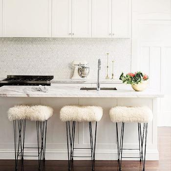 Hairpin and Sheespkin Barstools, Contemporary, Kitchen, McIntosh Moorman Interior Design