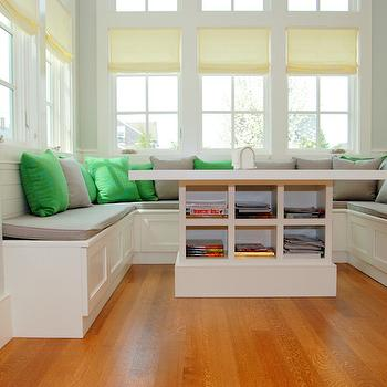 U Shaped Banquette, Transitional, Dining Room, Dearborn Builders