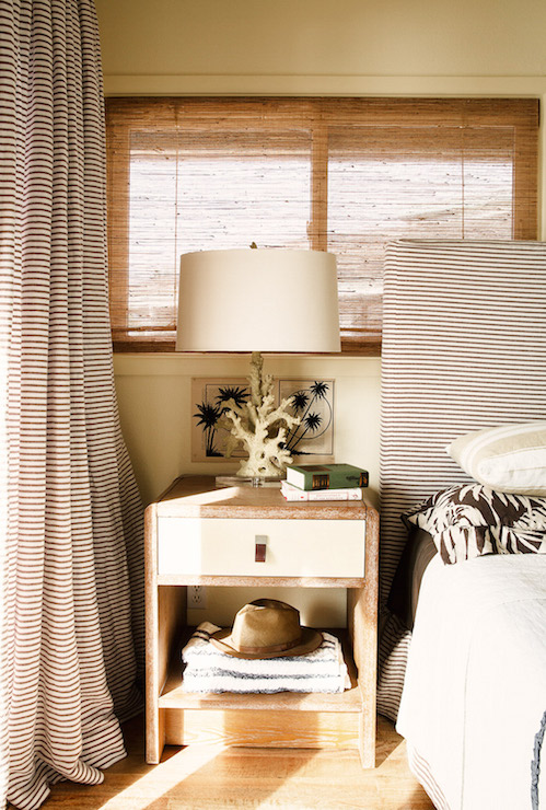 Black And White Stripe Curtains And Headboard Cottage Bedroom Studio Mrs