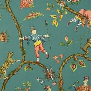 Scalamandre CHINOISE EXOTIQUE TEAL Wallpaper