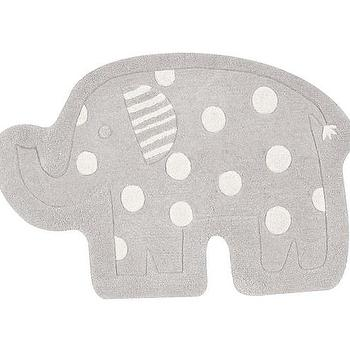 Gray Elephant Shaped Rug