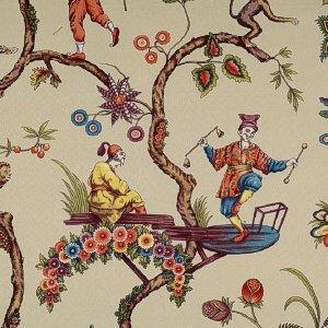 Scalamandre CHINOISE EXOTIQUE ECRU Fabric
