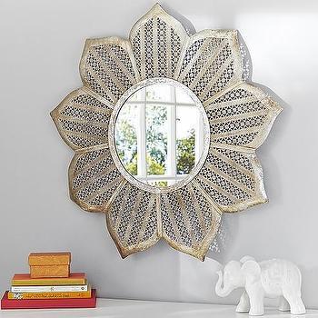 Silver Flower Mirror