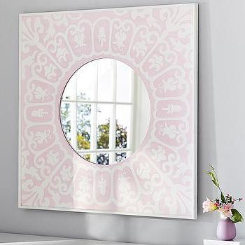 Pink Moroccan Painted Mirror