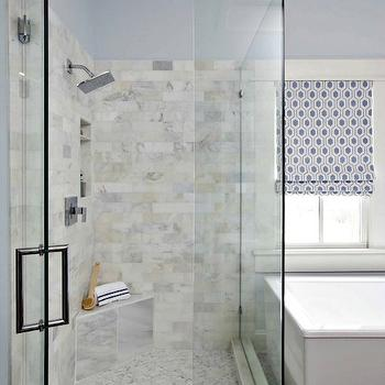 Carrera Marble Subway Tiles, Transitional, Bathroom, The Ace of Space