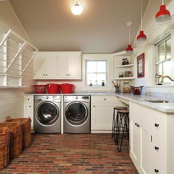 Farmhouse Laundry Rooms, Country, Laundry Room, John Hummel