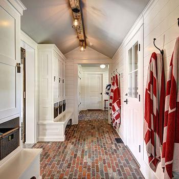 Farmhouse Mudroom Design, Country, Laundry Room, John Hummel
