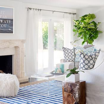 See Through Coffee Table, Transitional, Living Room, Lauren Christine Henno