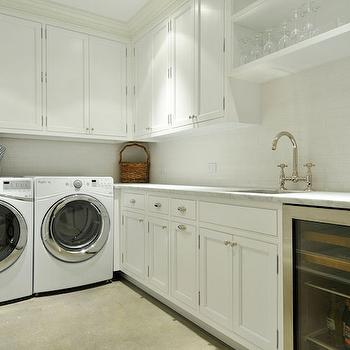 Washer and Dryer in Butlers Pantry, Transitional, Laundry Room, John Hummel