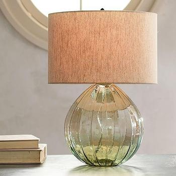 Alana Luster Glass Table Lamp Base, Green
