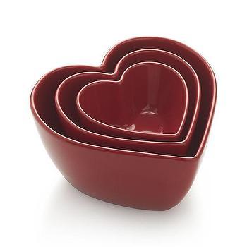 Set of 3 Heart Bowls