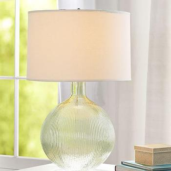 Zooey Green Glass Table Lamp Base