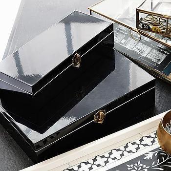 Trenna Black Lacquer Jewelry Box
