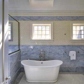 Cream Mini Subway Tiles, Cottage, Bathroom, John Hummel