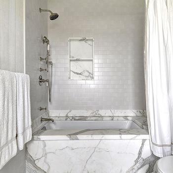 Silver Subway Tiles, Transitional, Bathroom, John Hummel