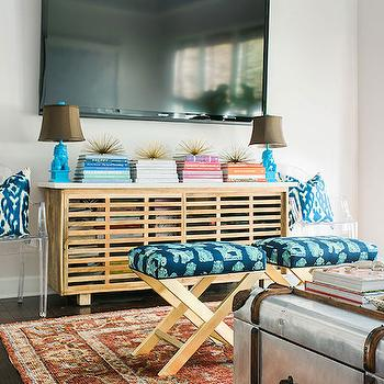 Living Room with Turquoise Accents, Transitional, Living Room, Waiting on Martha