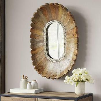 Oval Burst Mirror