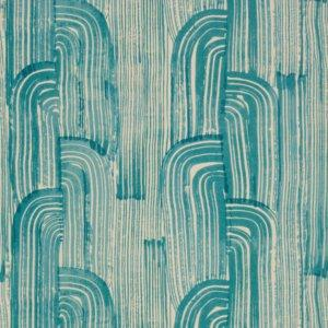 Groundworks CRESCENT PAPER LAKE/CREAM Wallpaper