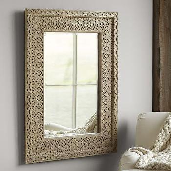 Filigree Mirror, Moroccan Lattice Mirror