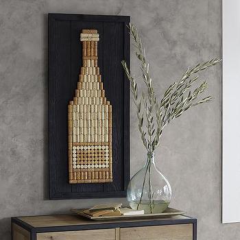 Cork Wine Bottle Art