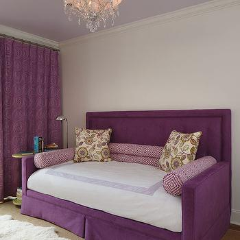Purple Daybed with Headboard, Contemporary, Girl's Room, Artistic Designs for Living