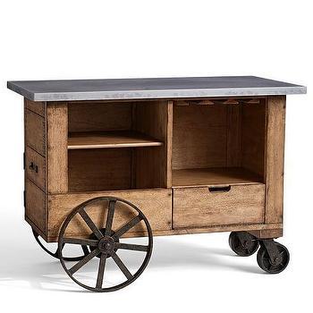 Harris Zinc Top Bar Cart