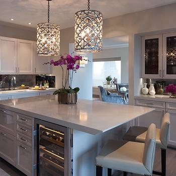 Quatrefoil Pendant Lights, Contemporary, Kitchen, James Thomas Chicago