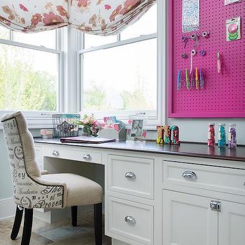 Built In Desk Under Window, Traditional, Den/library/office, Kitchen Studio KC