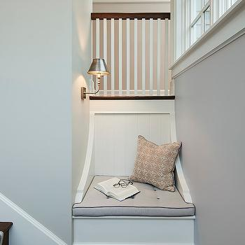 Staircase with Reading Nook, Transitional, Entrance/foyer, James Thomas Chicago