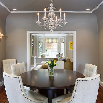 Gray Dining Room Ceiling, Transitional, Dining Room, Artistic Designs for Living