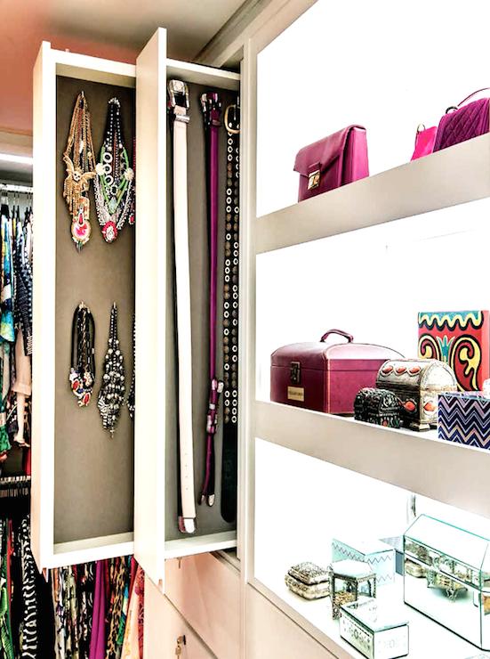 Necklace Organizer Closet Jewelry Storage