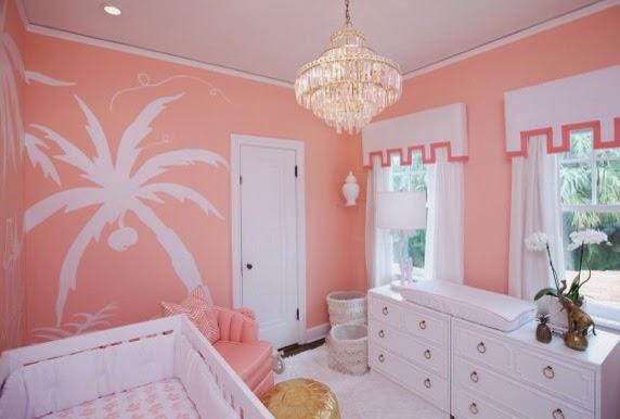 Coral Nursery Ideas Hollywood Regency Nursery